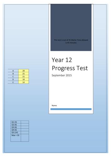Year 12 ICT Progress Test and Mark Scheme