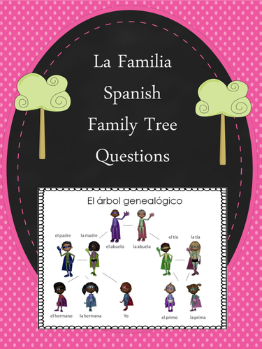 La Familia Spanish Family Tree Questions Worksheet By Emiliegdr