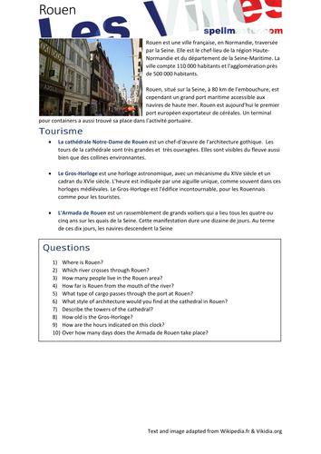 French: Les Villes - Rouen