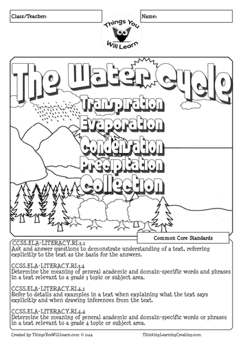 The Water Cycle Reading Activity Pack