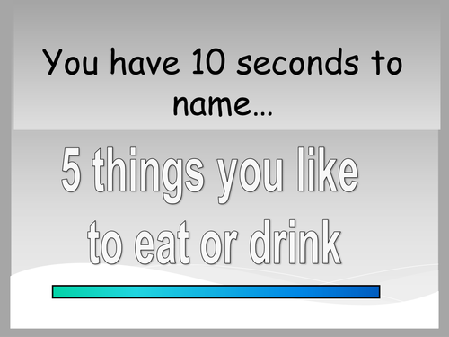 10 seconds to name - game