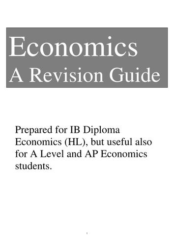 Economics (IBDP SL/HL) A Revision Booklet