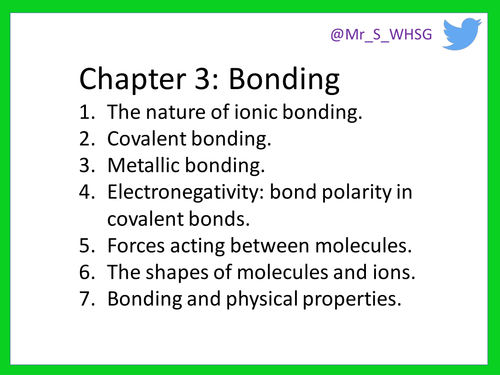 New (2016) AQA Chemistry A Level: Part 3 - Bonding