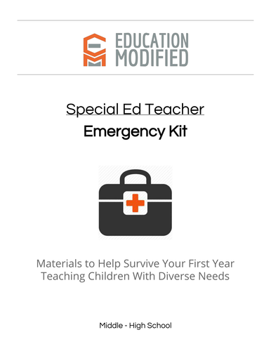 Special Education Teacher Emergency Kit: 1st Year (and Beyond)
