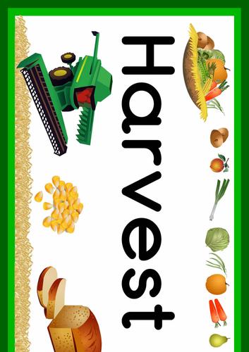 Harvest Festival Classroom Banner