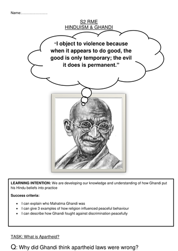 Gandhi Workbook