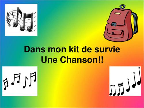 Studio 1 Module 1 Unit 2   - Dans mon Kit de Survie song