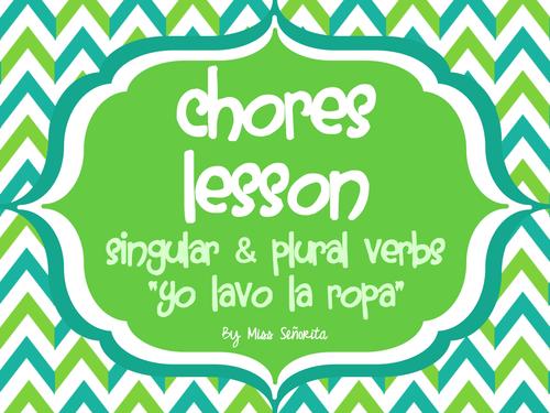 Spanish Chores Lesson