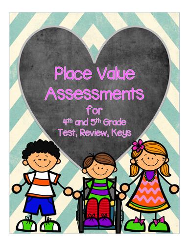 Place Value Assessments Grades 3-5