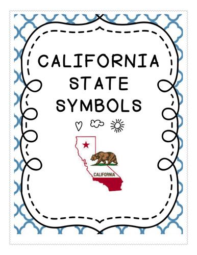 Social Studies California State Symbols Unit And County Postcard