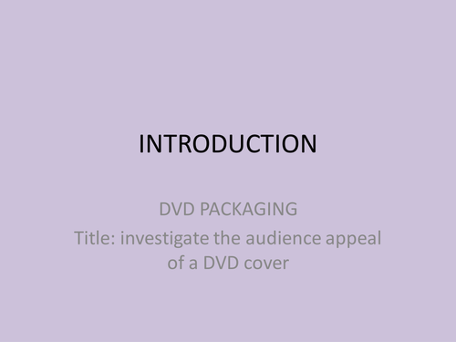 AQA ASSIGNMENT 1 COURSE WORK PACKAGING OF DVD'S