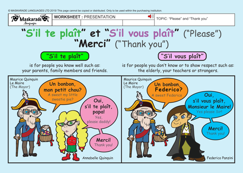 FRENCH-2nd/3rd GRADES-ABOUT YOU: Who are you?/Qui es-tu?/ Good manners/ Être poli