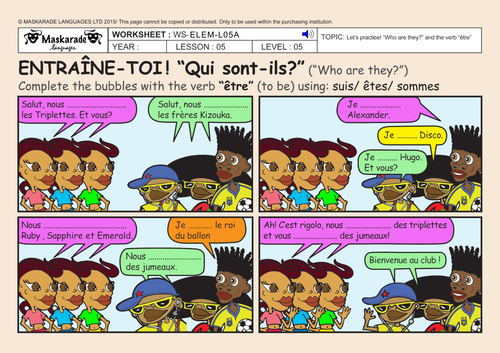 FRENCH-3rd/4th GRADE ABOUT YOU : Who are they?/ Qui sont-ils? / How old are they?/ Quel age ont-ils?