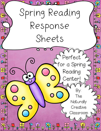 Spring Reading Response Sheets