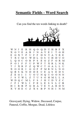Gothic Wordsearch
