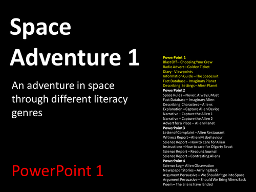 Space Adventure Through Writing Genres
