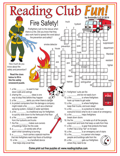 Free Fire Safety Worksheets For Kids