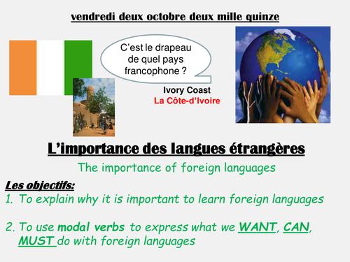 L'importance des langues etrangeres 1.