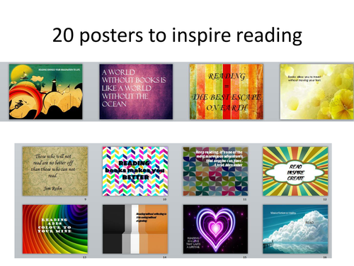 20 posters to inspire reading