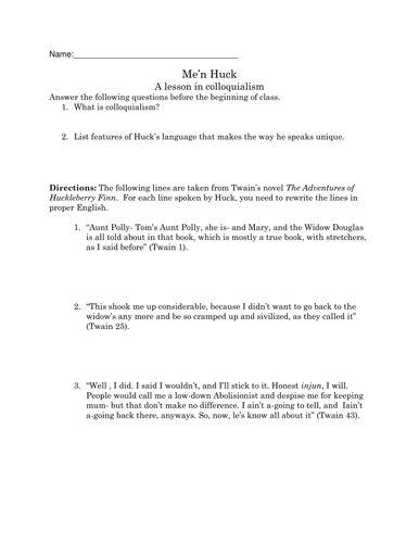 Huckleberry Finn Resource Pack by Polaphuca - Teaching Resources - TES