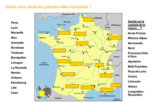 Map Of France With Key.Maps Of France