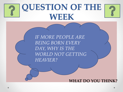 40 x question of the week