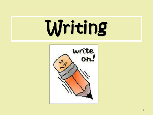 Writing Sentences  -  A Simple Introduction to Writing