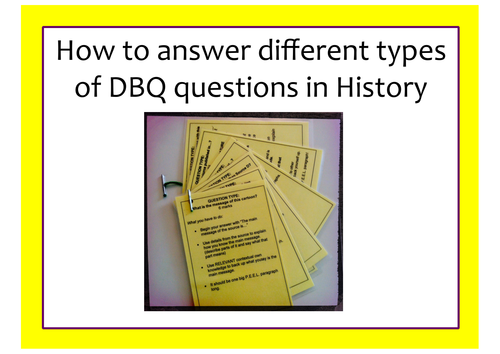 How to answer History DBQ (GCSE) source based questions REVISION CARDS