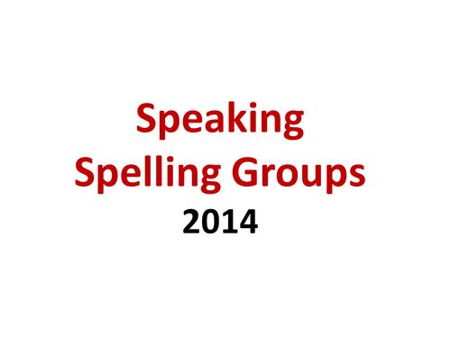 1. Speaking SPaG Spelling Y5 Y6