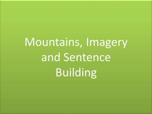 Mountain Sentence Builder