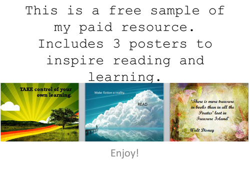posters to inspire reading and learning