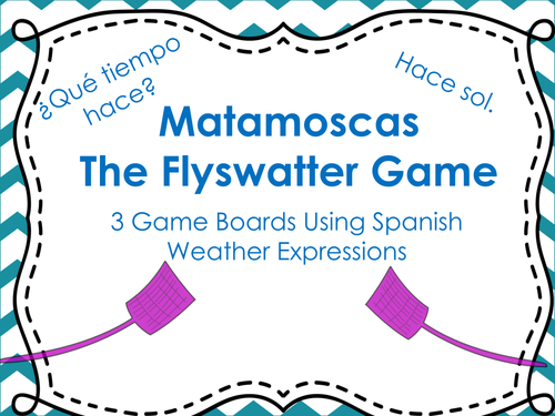 Matamoscas (Flyswatter) Game with Spanish Weather Expressions by ...