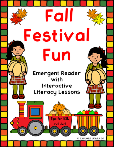 Fall Festival Fun Emergent Reader with Interactive Literacy Lessons