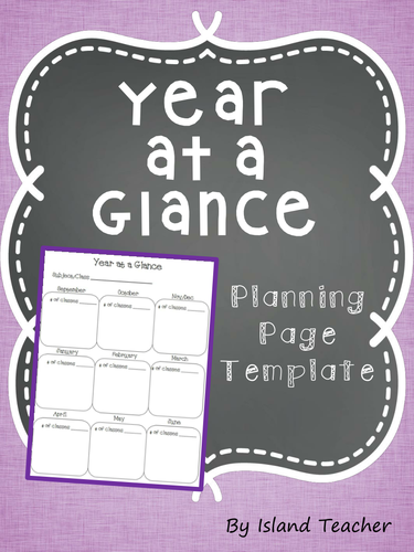 year at a glance planning page template by emiliegdr teaching