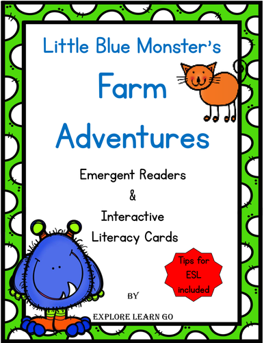 Little Blue Monster's Farm Adventures / Two Emergent Readers with Hands-on Literacy Lessons