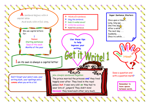 Writing table mats (Key stage 1)