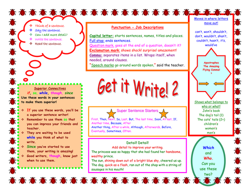 Writing table mats ( key stage 2)