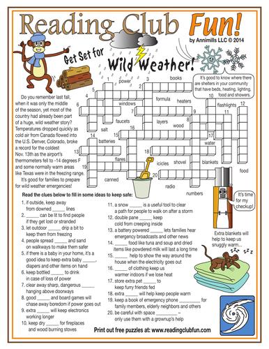 Get Set for Wild Weather Crossword Puzzle