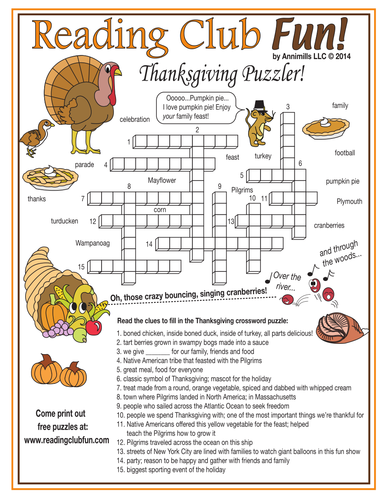 thanksgiving words crossword puzzle by puzzlefun teaching resources tes. Black Bedroom Furniture Sets. Home Design Ideas