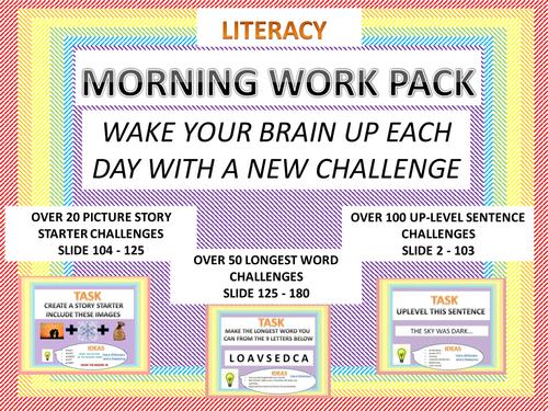 180 literacy challenges KS1 KS2