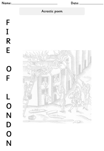 The Great Fire of London- Powerpoints, worksheets, display