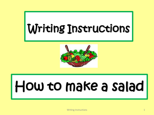 Writing Instructions Introducing The Genre In An Active Manner By