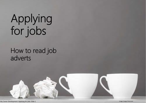 Applying for jobs: How to read job adverts