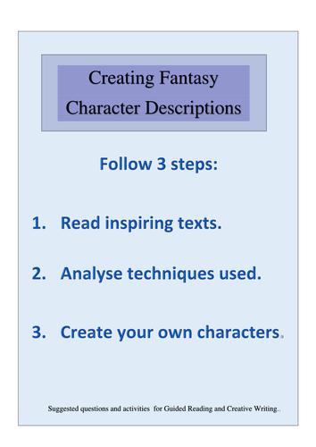 Creating Fantasy Character Descriptions