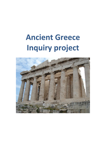 Ancient Greece Inquiry based project