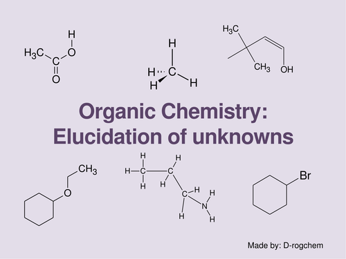 Chemistry: organic - elucidation of unknowns for AS or IB students