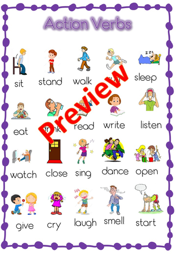 action verbs list past present and future by topmarksed teaching resources tes