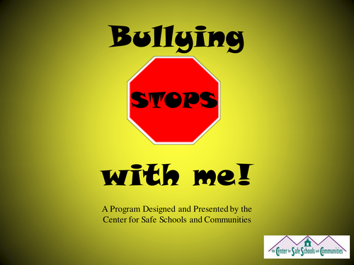 Bullying Stops With Me Powerpoint