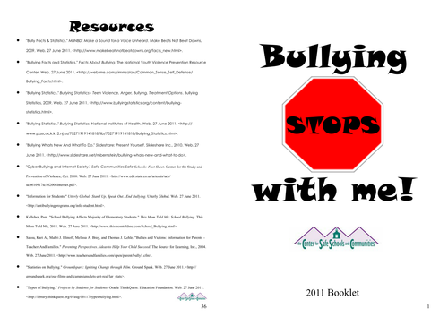Bullying Stops With Me Mini Curriculum Booklet