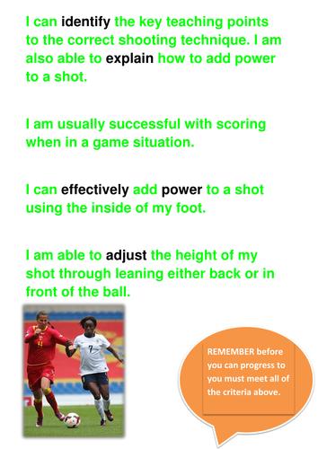 Football Shooting Assessment